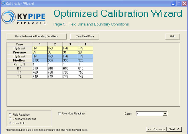 KYPipe Calibration Wizard